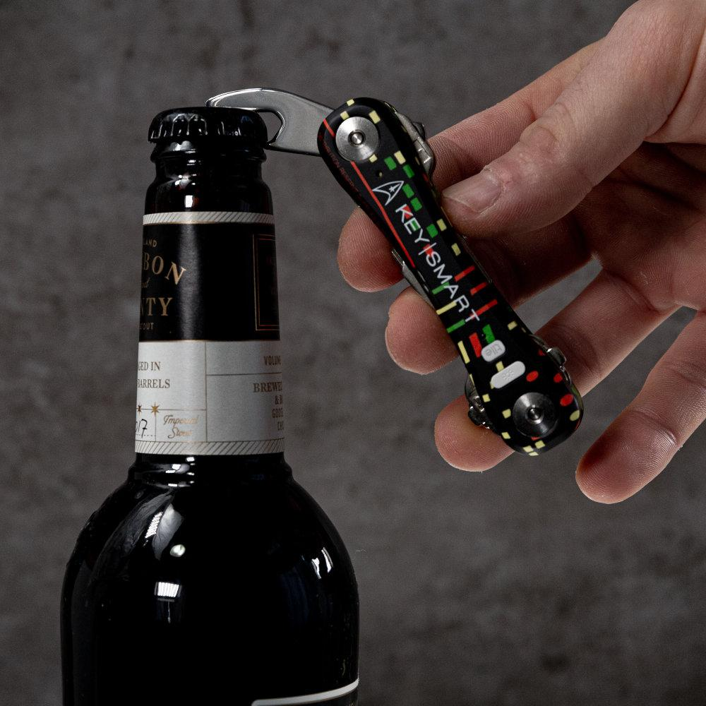 KeySmart Pro Star Trek: The Original Compact Key Holder Pops Open Your Favorite Beverage with a Built-in Bottle Opener