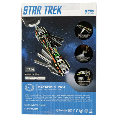 KeySmart Pro Star Trek: The Original Compact Key Holder Package Back