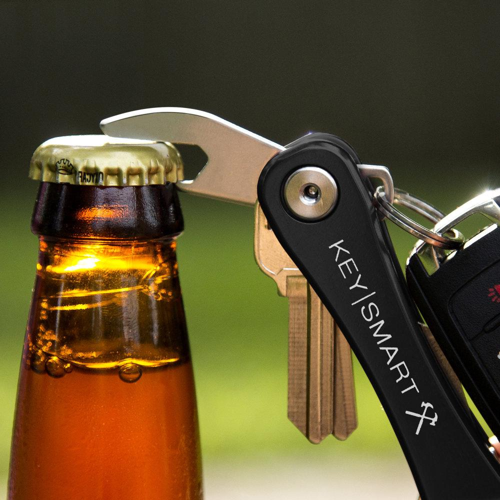 KeySmart Rugged Compact Key Holder Built-in Bottle Opener