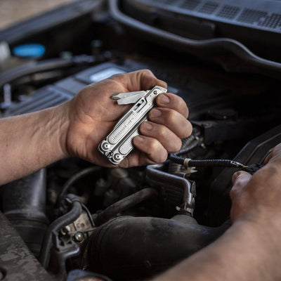 Leatherman FREE P4 Multipurpose Pliers In Use for Auto Repair