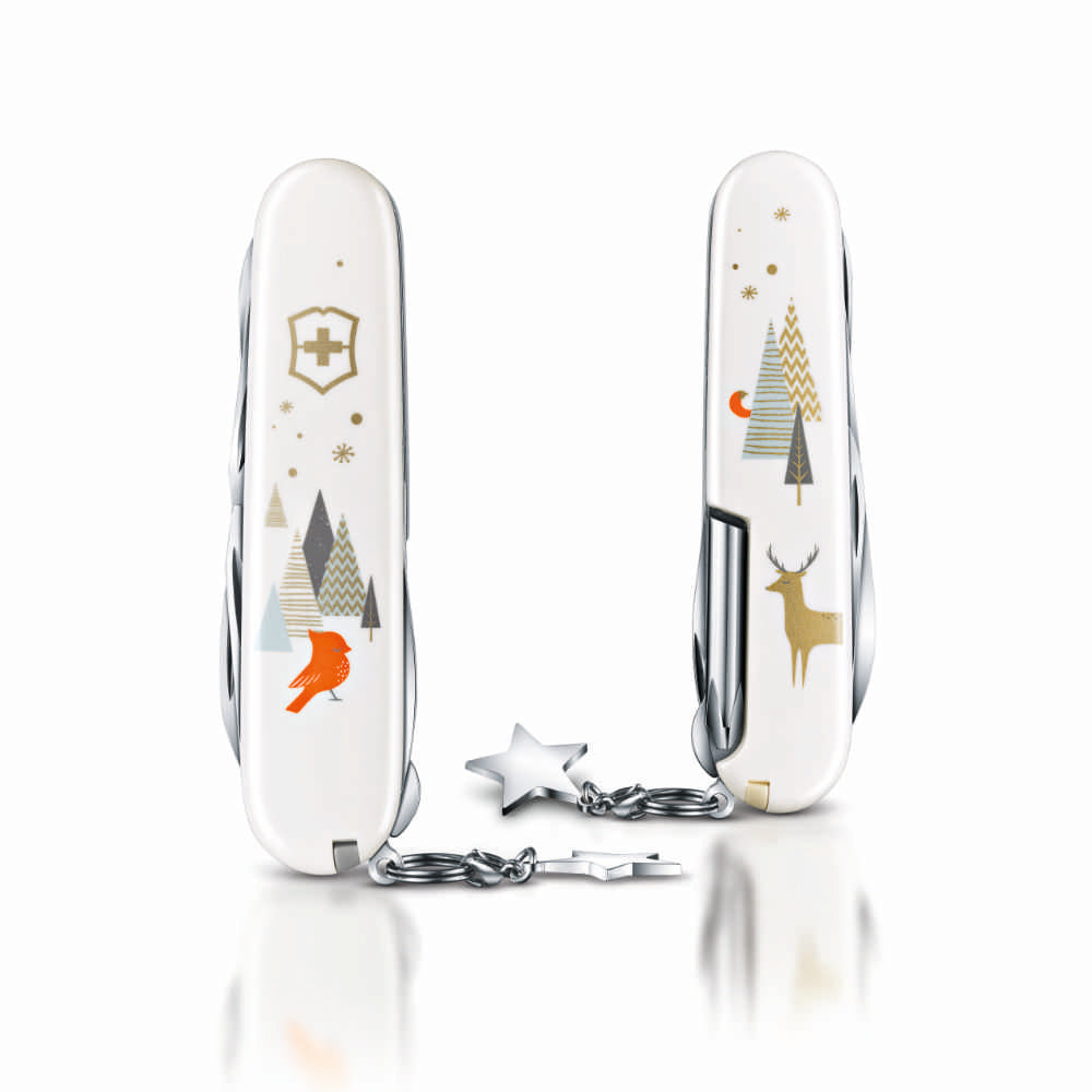 Winter Magic Super Tinker Limited Edition Swiss Army Knife Front and Back View, Closed