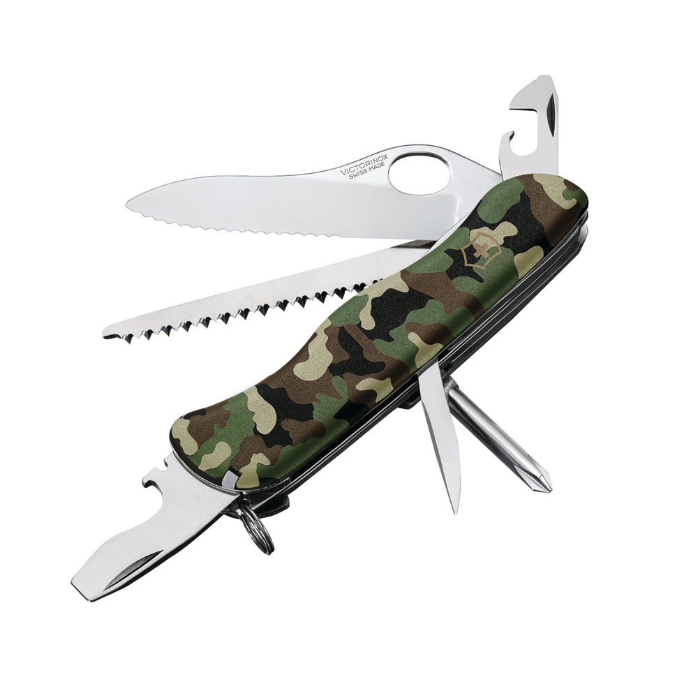 One-Hand Trekker Camouflage Swiss Army Knife by Victorinox at Swiss Knife Shop