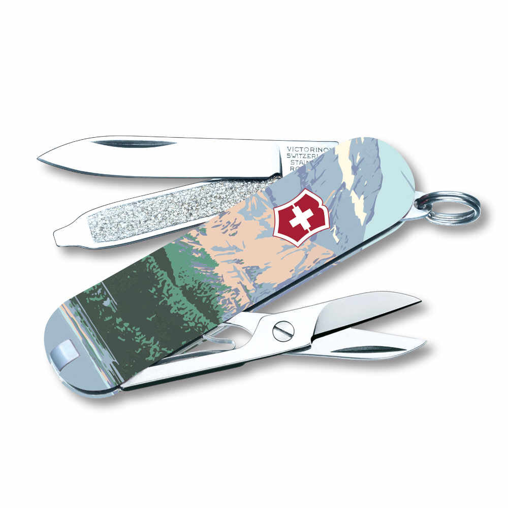 Glacier National Park Poster Art Classic SD Swiss Army Knife