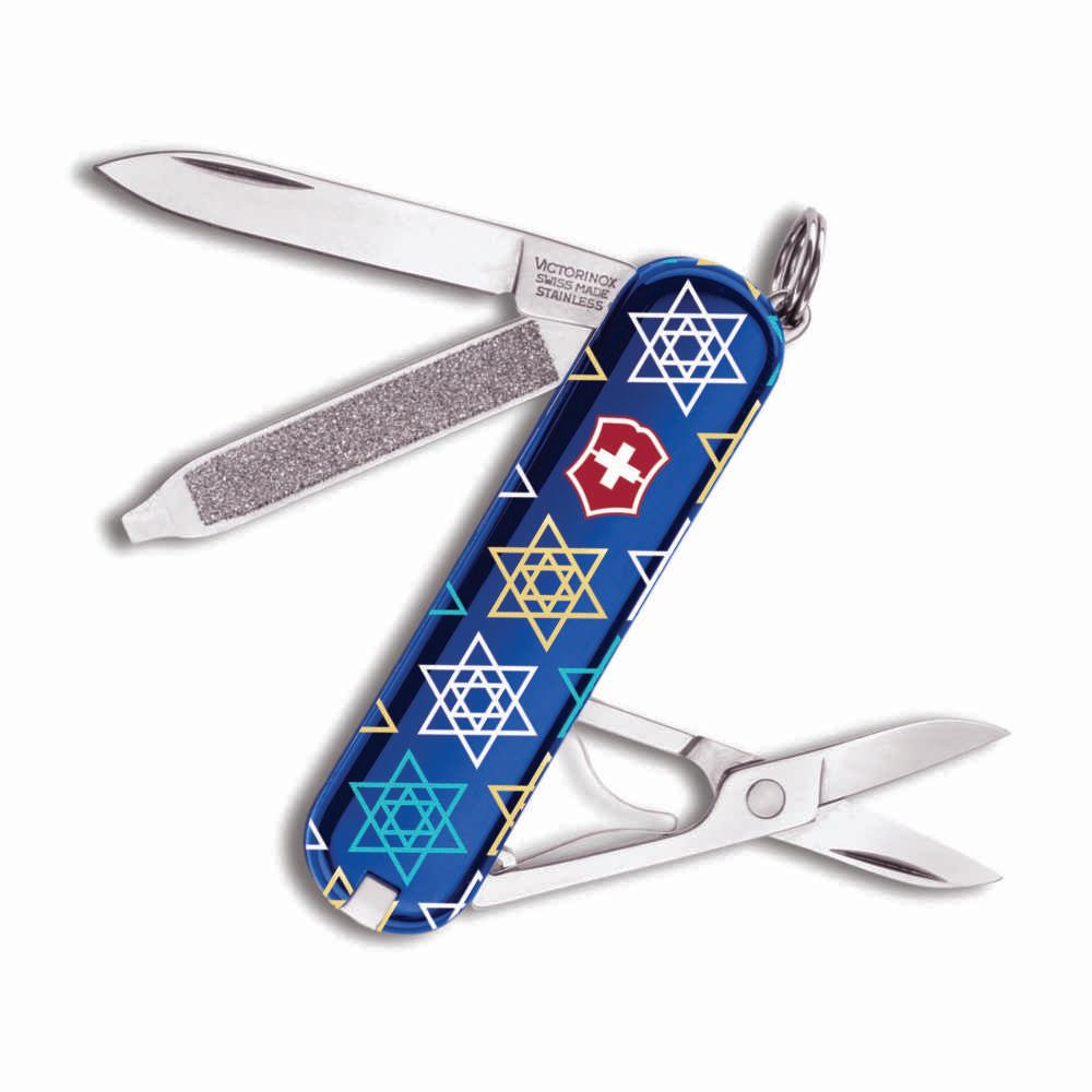 Star of David Pattern Exclusive Classic SD Swiss Army Knife by Victorinox at Swiss Knife Shop