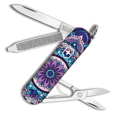 Purple Mandala Classic SD Swiss Army Knife by Victorinox at Swiss Knife Shop