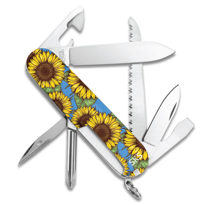 Sunflowers Hiker Swiss Army Knife Back