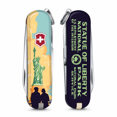 Statue of Liberty National Park Poster Art Classic SD Swiss Army Knife