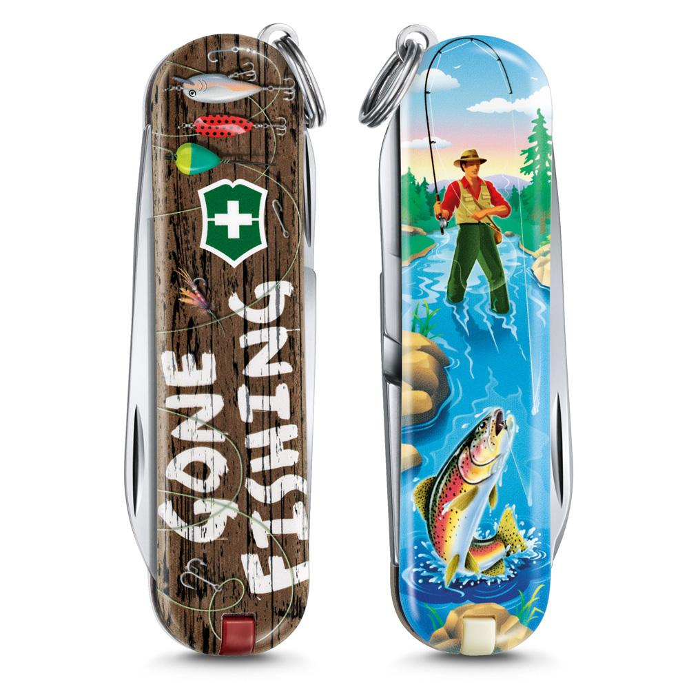 Gone Fishing Classic SD 2020 Limited Edition Swiss Army Knife Front and Back