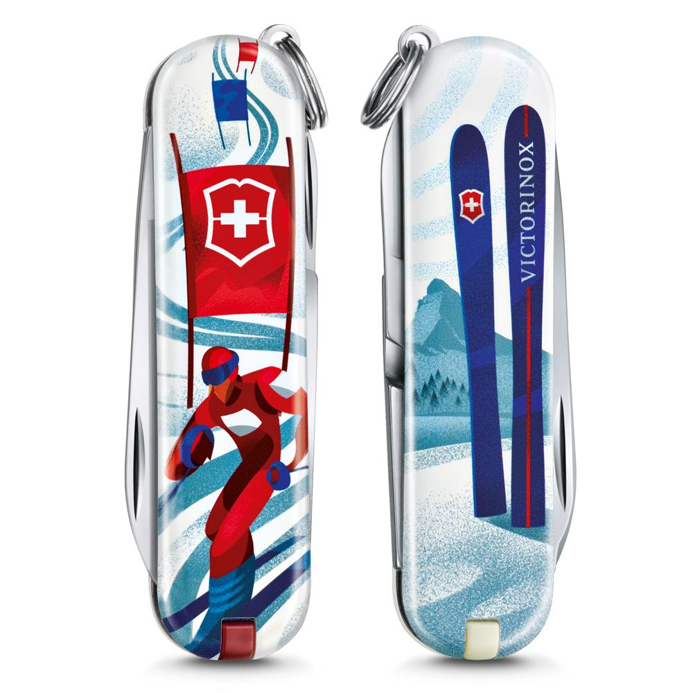 Ski Race Classic SD 2020 Limited Edition Swiss Army Knife Front and Back