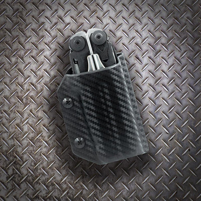 Clip & Carry Kydex Sheath for the Leatherman Surge on Industrial Background