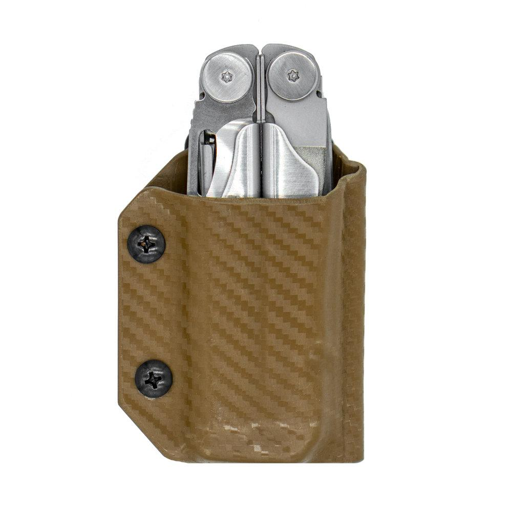 Clip & Carry Kydex Sheath for the Leatherman Wave + in Carbon Tan