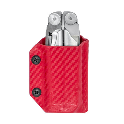 Clip & Carry Kydex Sheath for the Leatherman Wave + in Carbon Red