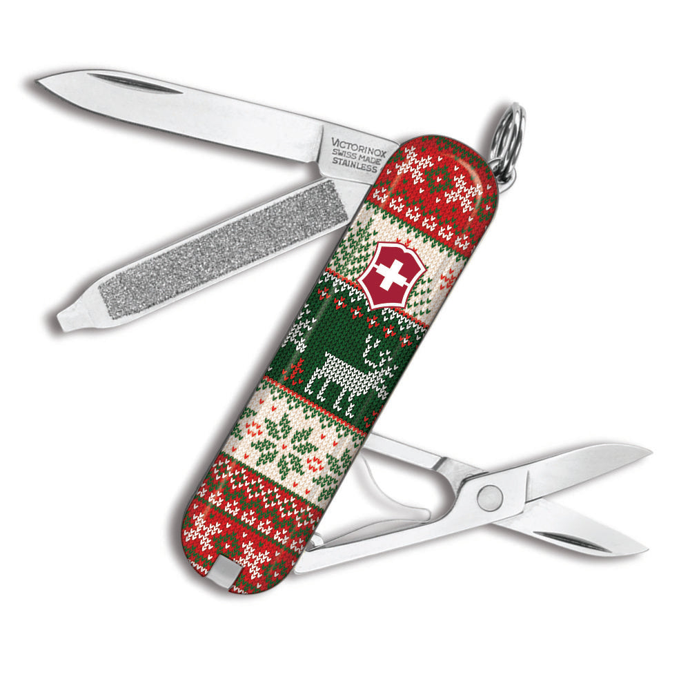 Reindeer Christmas Sweater Classic SD Exclusive Swiss Army Knife by Victorinox