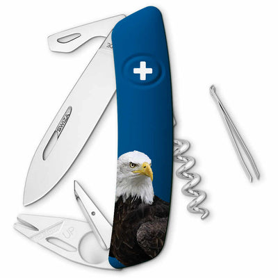 Swiza Wildlife TT03 Swiss Tick Tool Pocket Knife, Bald Eagle