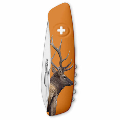 Swiza Wildlife TT03 Swiss Tick Tool Pocket Knife, Deer