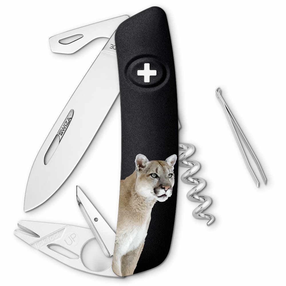 Swiza Wildlife TT03 Swiss Tick Tool Pocket Knife, Puma