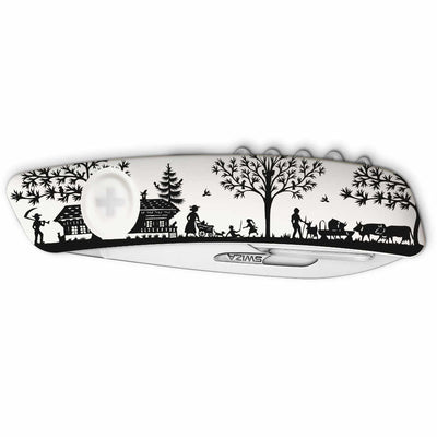 Swiza D01 Heimat III White Swiss Pocket Knife