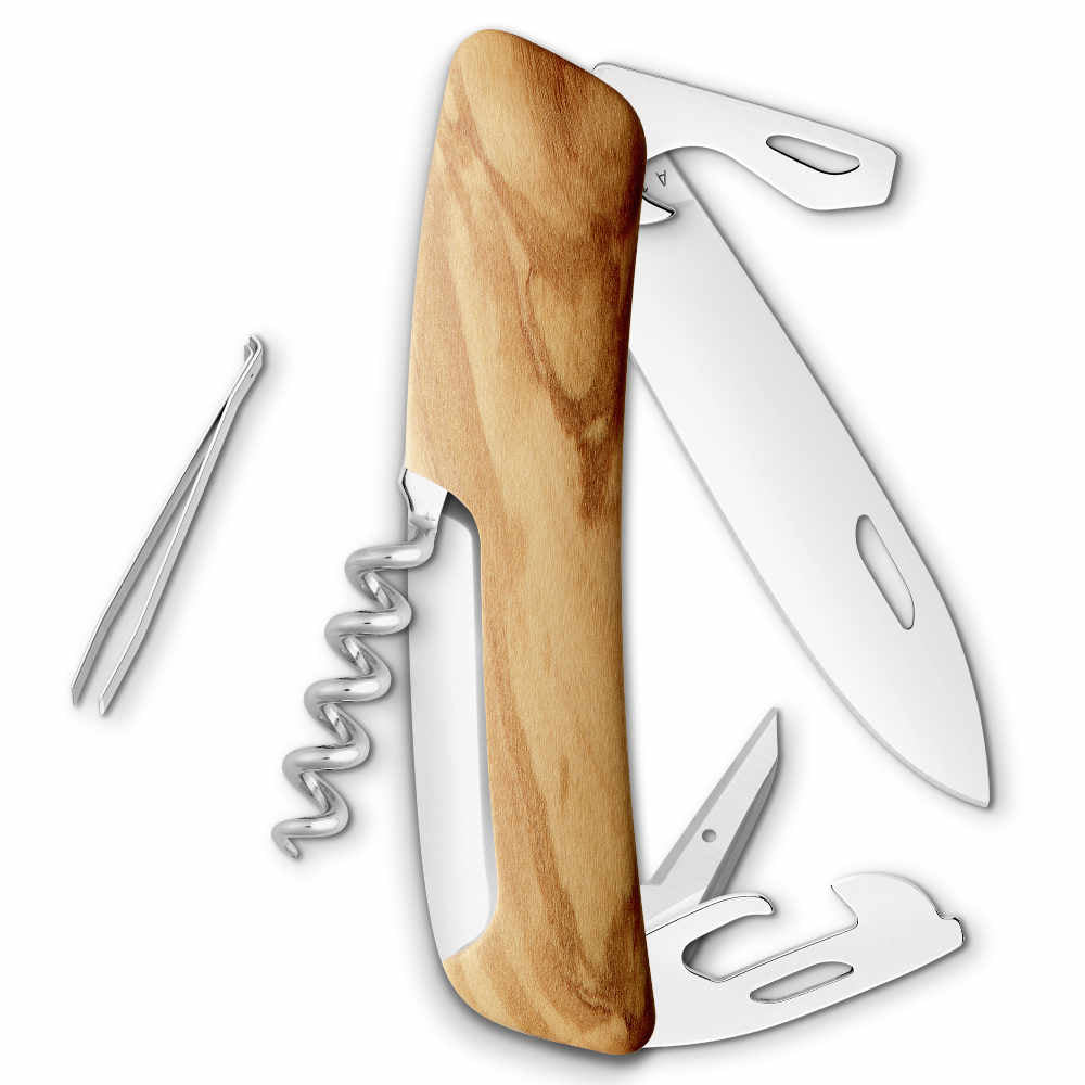 Swiza D03 Olive Wood Swiss Pocket Knife