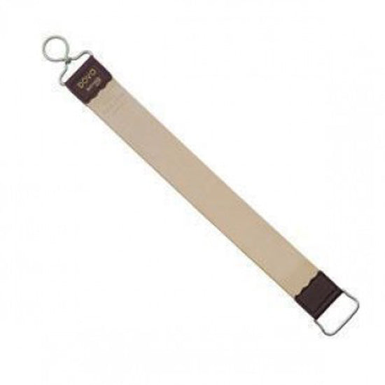 Dovo Hanging Strop - Russian Cowhide, Stainless Steel Finger Loop