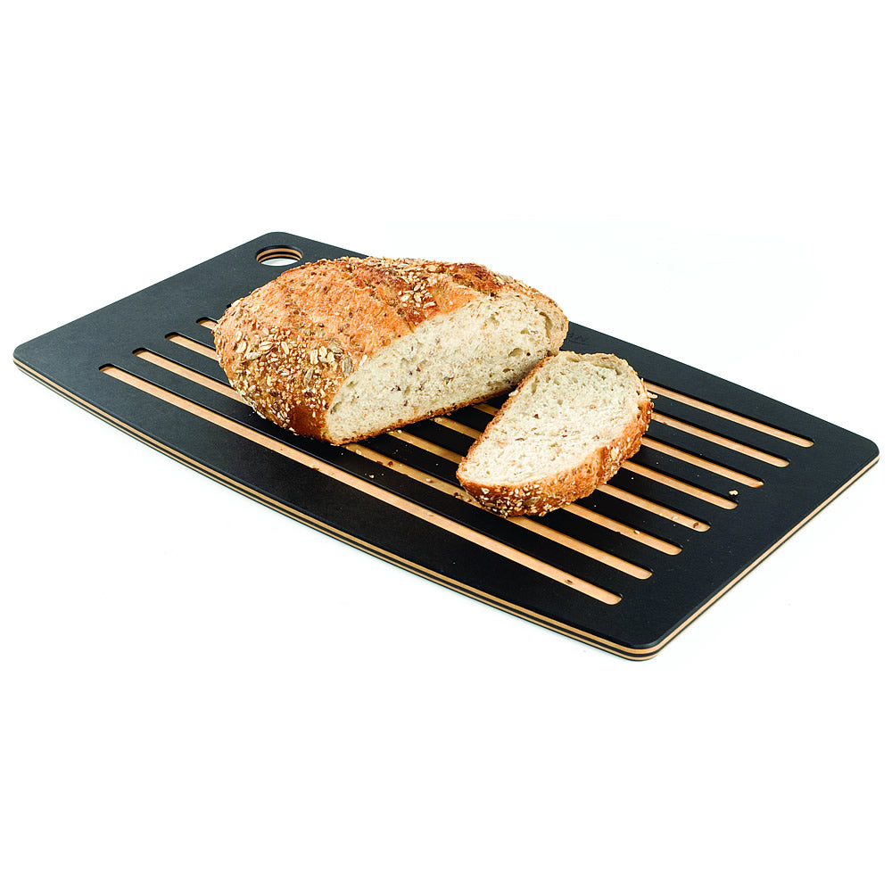 "Epicurean 18"" x 10"" Dual-Sided Bread Board - Slate / Natural"