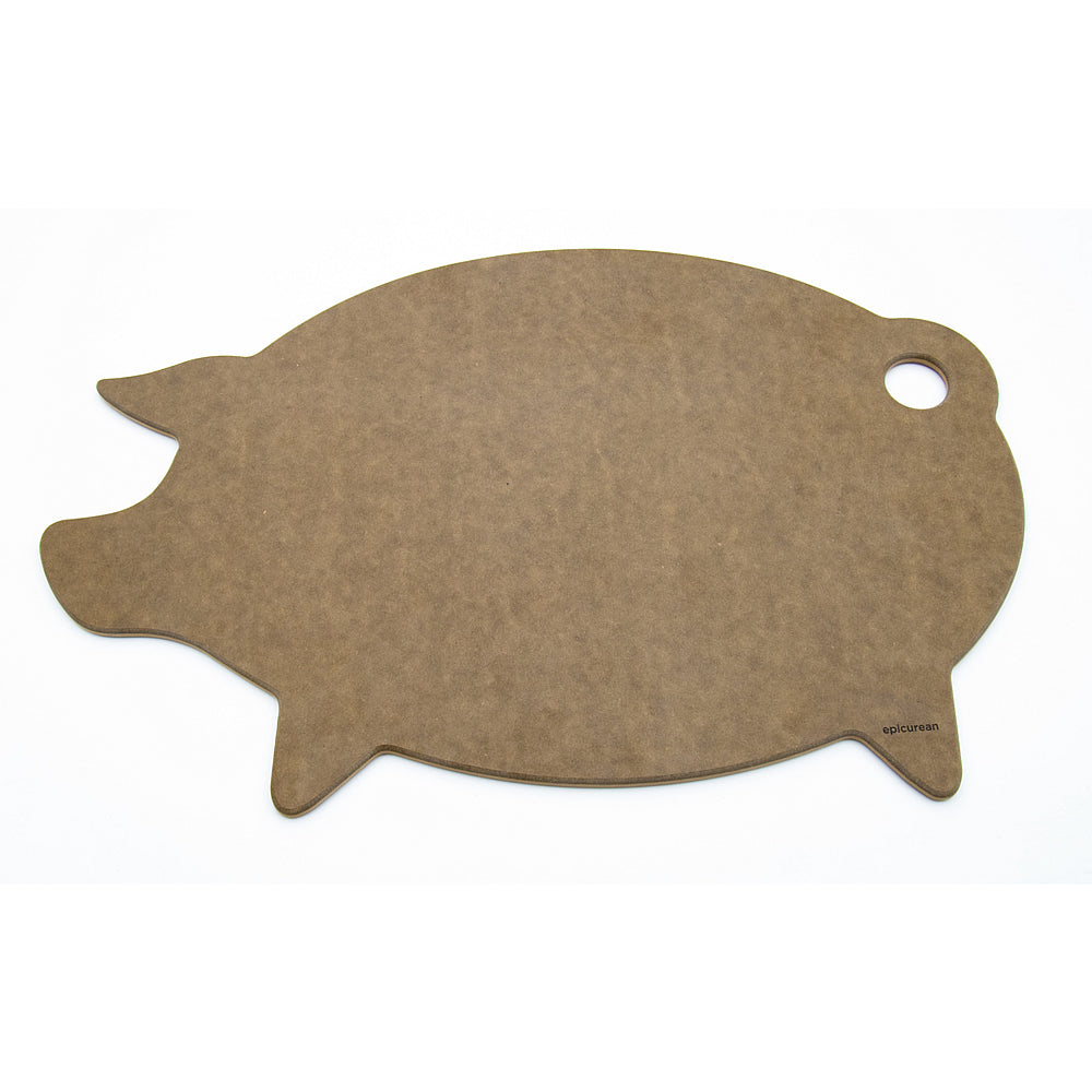 Epicurean Modern Animal Pig Cutting Board - Nutmeg