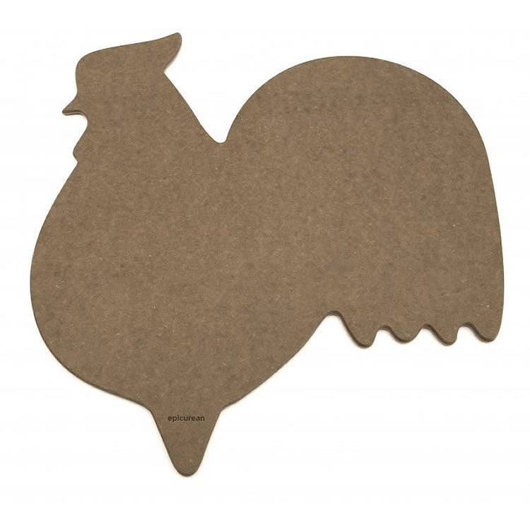 Epicurean Modern Animal Rooster Cutting Board - Natural