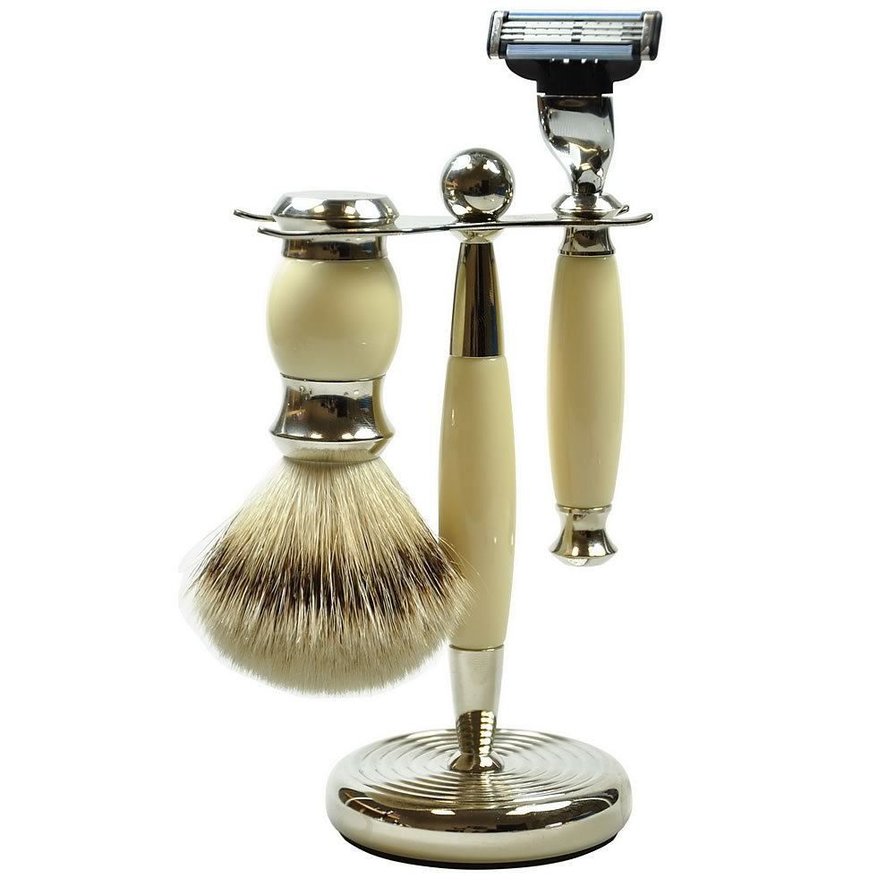 Golddachs Men's 3-Piece Shaving Set, Mach3