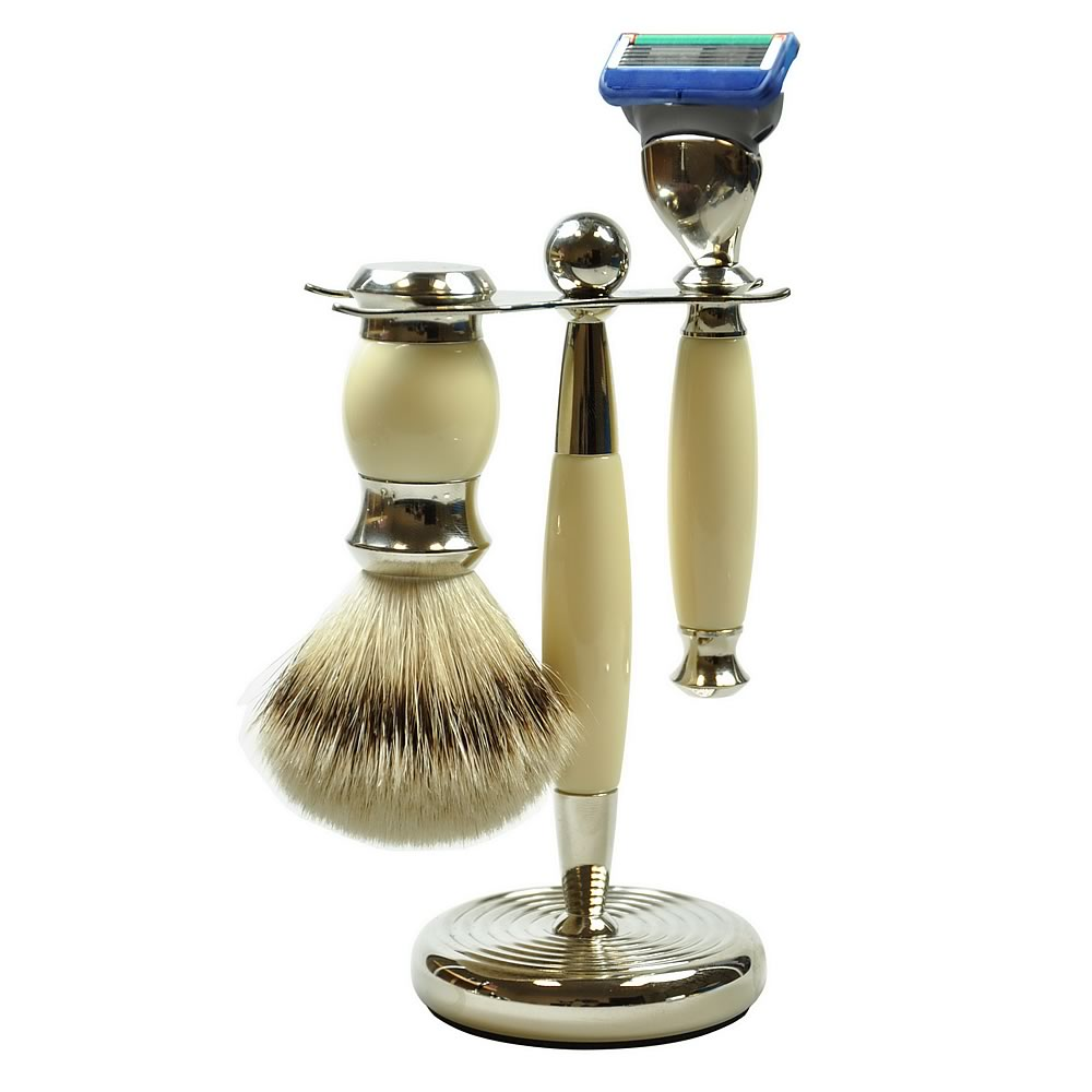 Golddachs Men's 3-Piece Shaving Set, Fusion