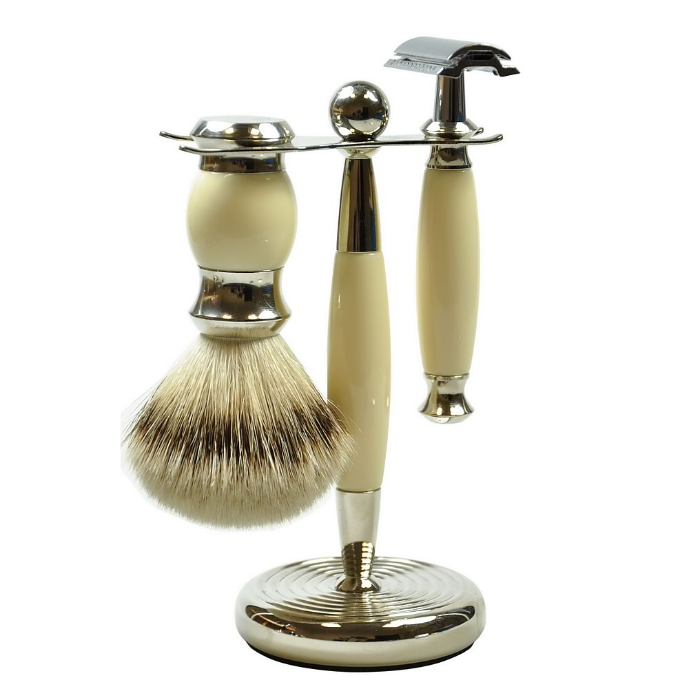 Golddachs Men's 3-Piece Shaving Set, Double Edge
