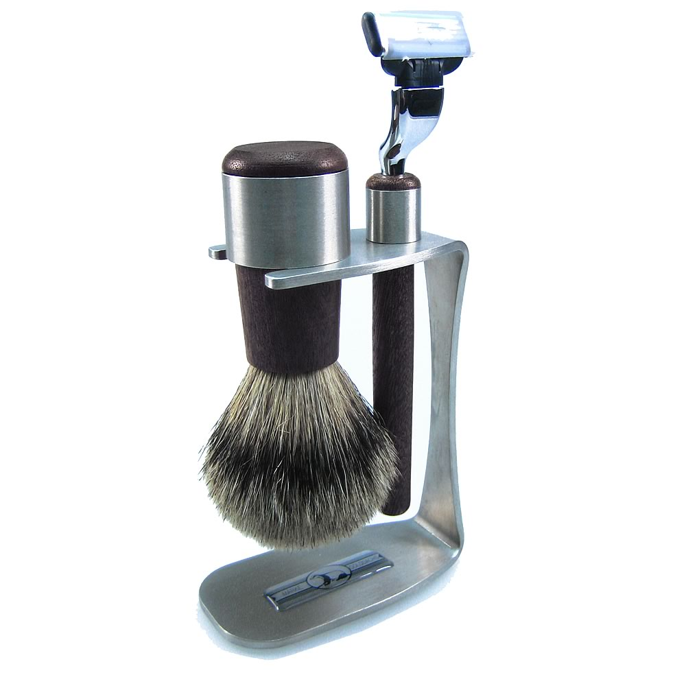 Golddachs Men's 3-Piece Wenge Wood Mach 3 Shaving Set