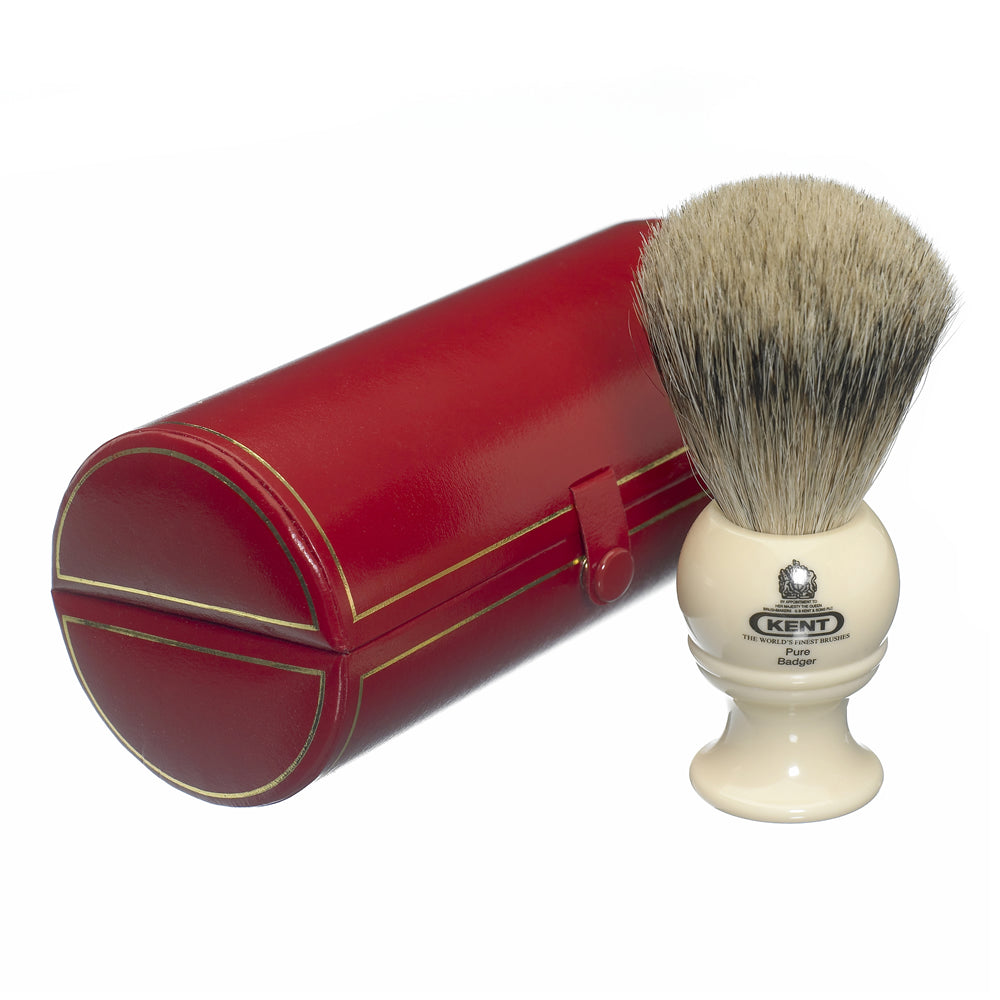 Kent Medium Cream Pure Grey Badger Traditional Shaving Brush