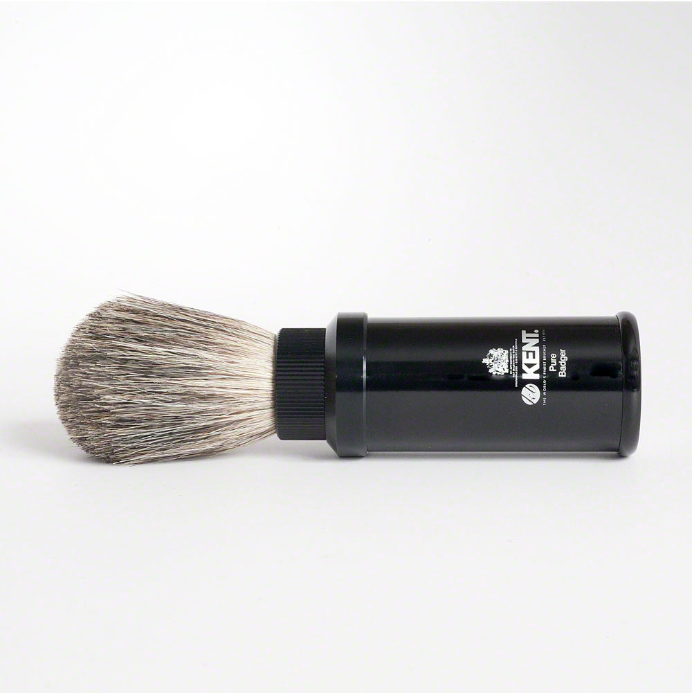 Kent Pure Badger Black Travel Shaving Brush