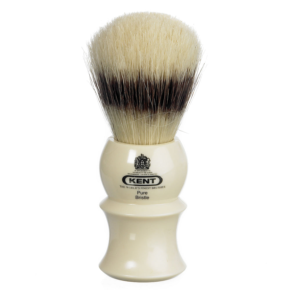 Kent Medium Cream Pure Bristle Traditional Shaving Brush