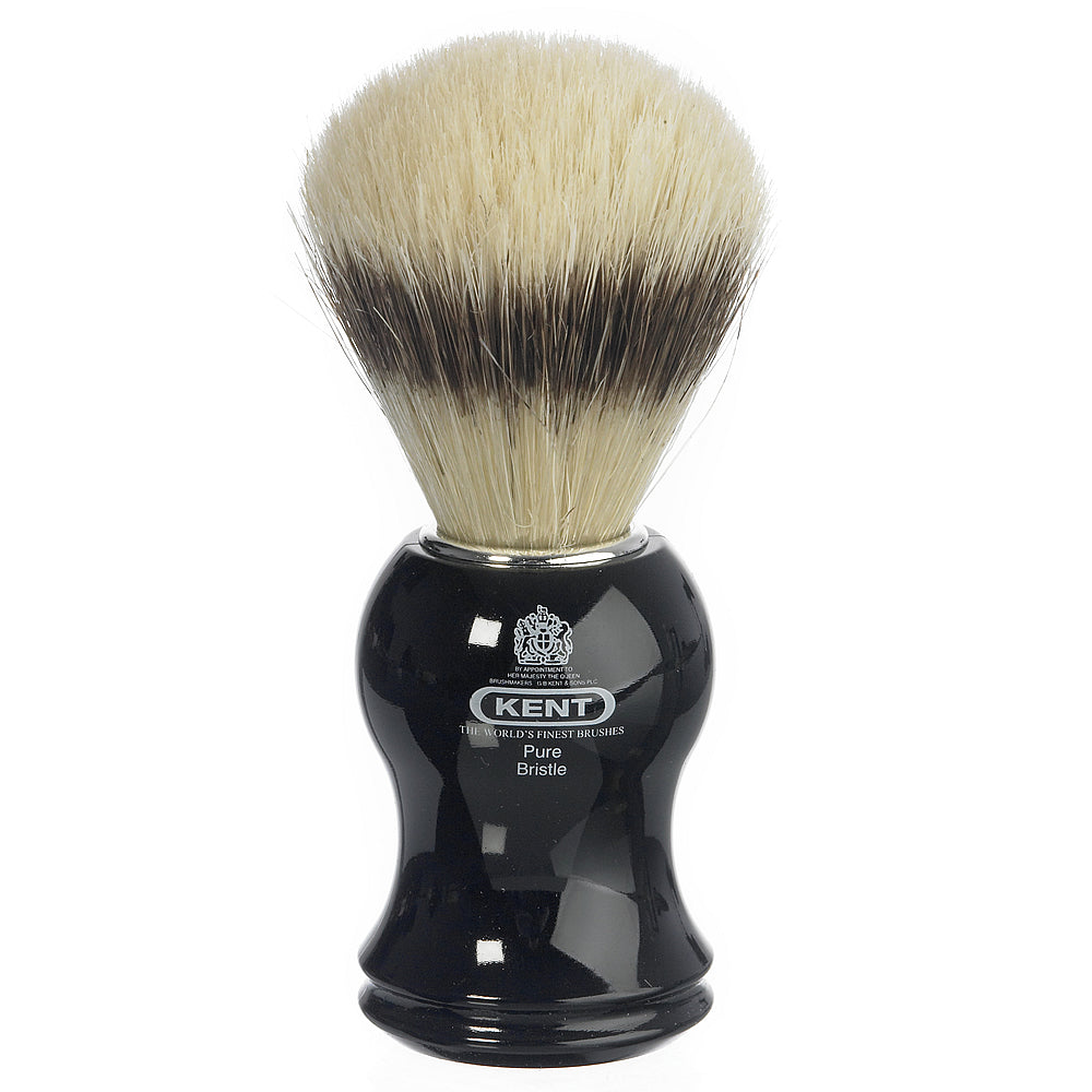 Kent Medium Black Pure Bristle Traditional Shaving Brush