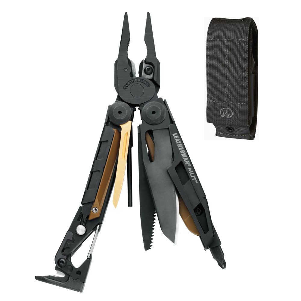 Leatherman Black Oxide MUT Multi-Tool with Black MOLLE Sheath