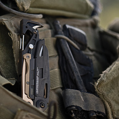 Leatherman Black Oxide MUT Multi-Tool with Brown MOLLE Sheath