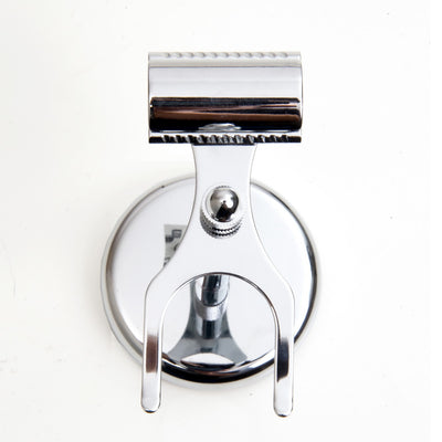 Pure Badger Universal Shaving Stand for Razor and Brush - Chrome