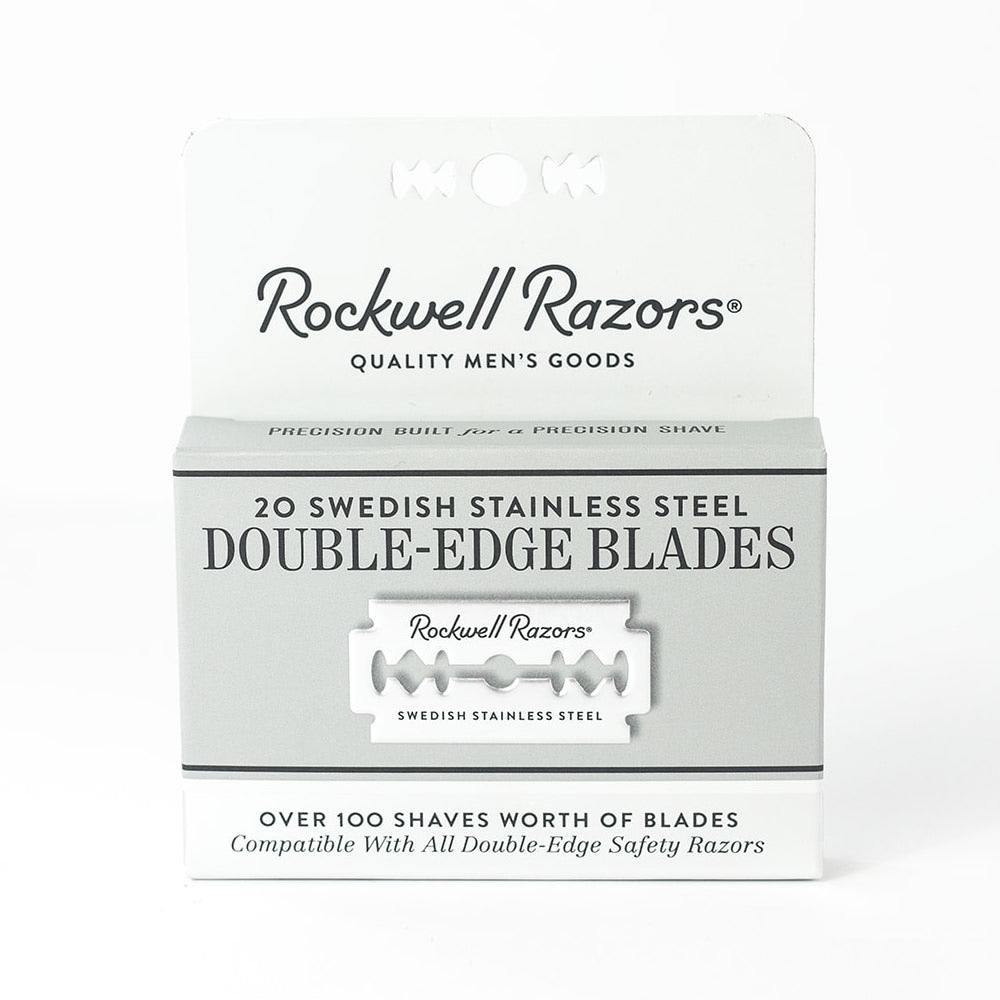 Rockwell Double Edge Razor Blades, 20 Pack