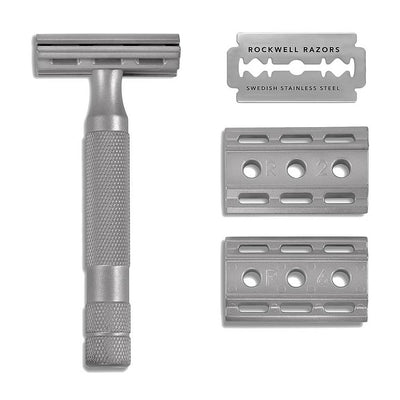Rockwell 6S Fully Adjustable Safety Razor, Matte Stainless Steel
