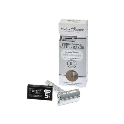 Rockwell R1 Rookie Safety Razor, White Chrome