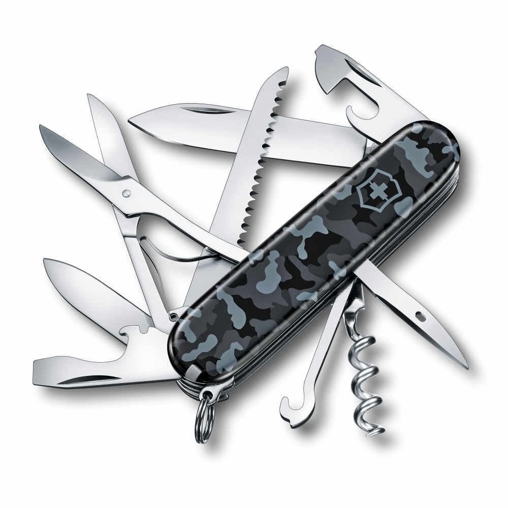 Navy Camouflage Huntsman Swiss Army Knife