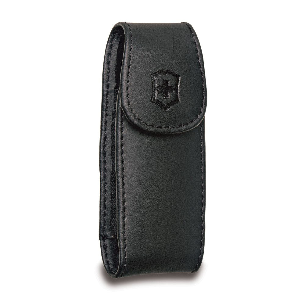 Swiss Army Large Black Leather Pocketknife Clip Pouch