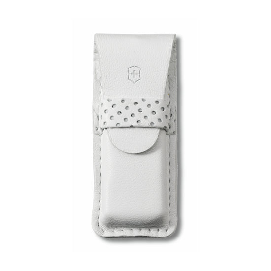 Classic SD White Leather Pouch by Victorinox