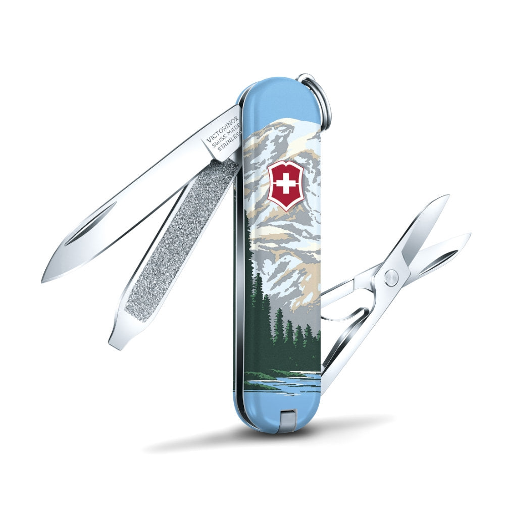 Mount Rainier National Park Poster Art Classic SD Swiss Army Knife