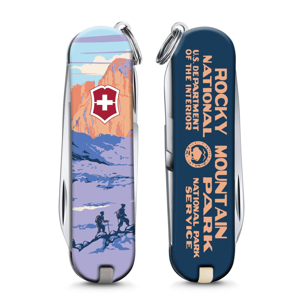 Rocky Mountains National Park Poster Art Classic SD Swiss Army Knife