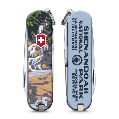 Shenandoah National Park Poster Art Classic SD Swiss Army Knife