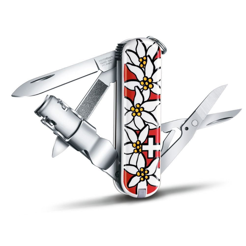 Nail Clip 580 Red Edelweiss Swiss Army Knife