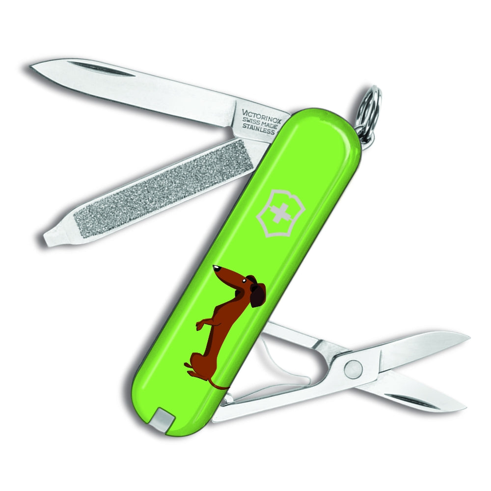Dachshund Dog Green Classic SD Exclusive Swiss Army Knife