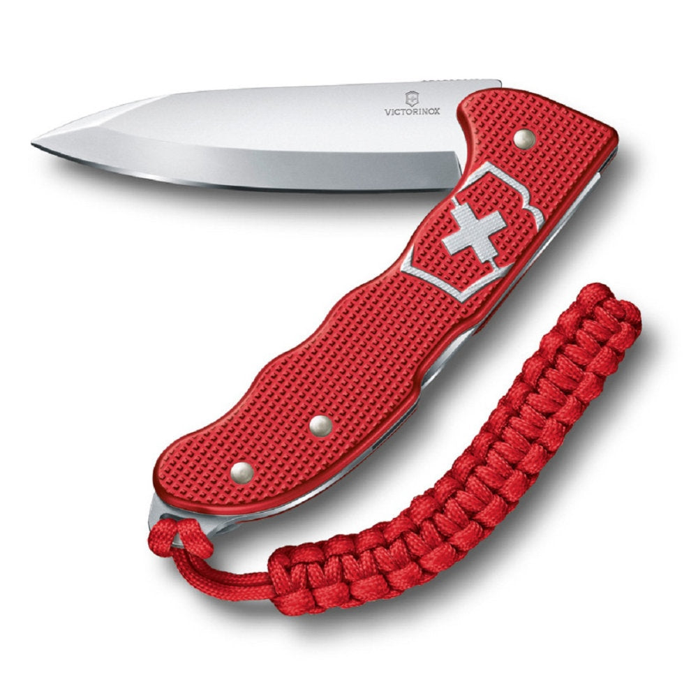 Hunter Pro Red Alox Swiss Army Knife with Clip and Lanyard