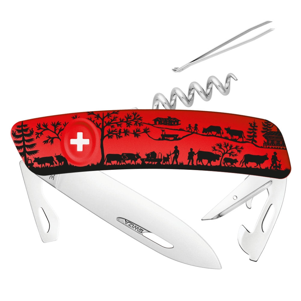 Swiza D03 Heimat Red Swiss Pocket Knife